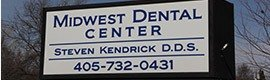 Midwest City Dental Center sign